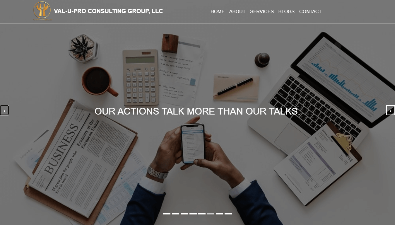 val-u-pro consulting group - weblyn